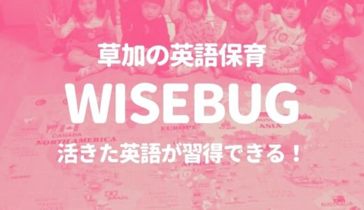 【草加】英語保育の「WISEBUG ENGLISH」なら活きた英語が習得できる!