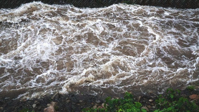 河川氾濫状況